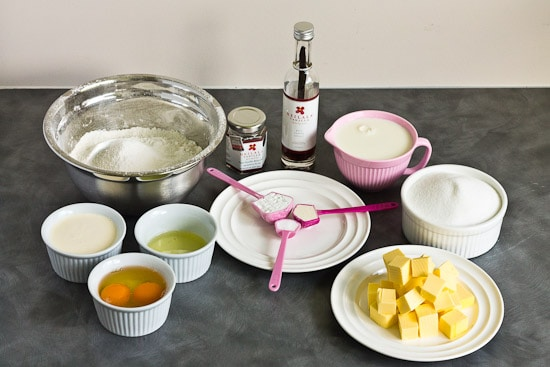 Vanilla cupcake ingredients