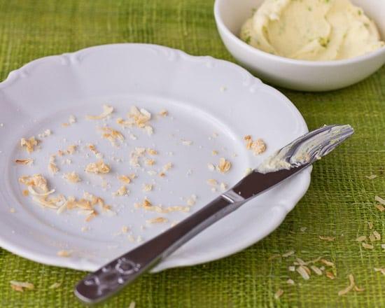 Coconut Bread Empty Plate