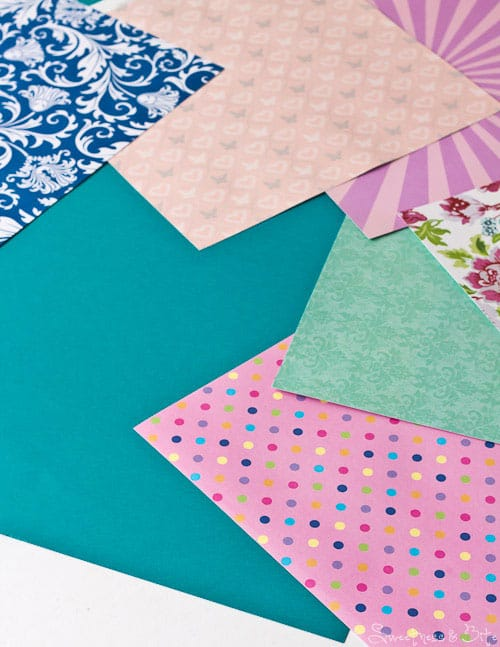 Papers for doily covered cake board