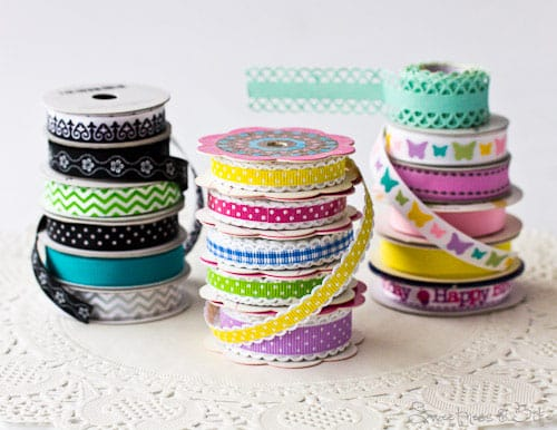 Ribbons for doily cake boards