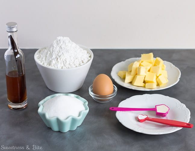 Fruity Frosted Flower Cookie Ingredients
