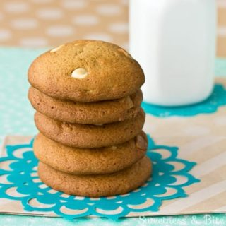 Real Caramel and White Chocolate Chip Cookies {Gluten Free}
