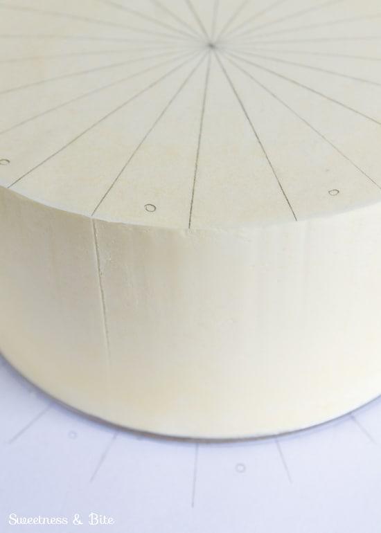 Perfect Buttercream Stripes Tutorial Diagonal Stripes -Top Guide