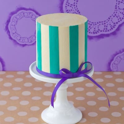 Perfect Buttercream Stripes Cake {Tutorial}