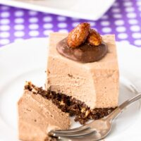 Crunchy Almond Toblerone Cheesecake