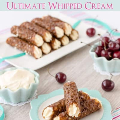 Gluten Free Brandy Snaps with Ultimate Whipped Cream ~ Sweetness and Bite