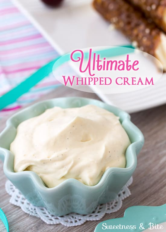 Ultimate Whipped Cream ~ Sweetness and Bite