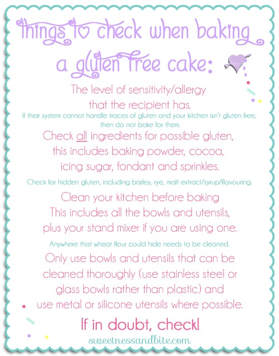 What to Check Before Baking a Gluten Free Cake ~ Sweetness & Bite