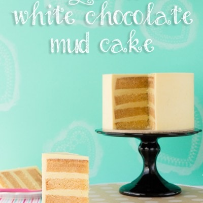 Gluten free white chocolate mud cake for cake decorating ~ Sweetness & Bite