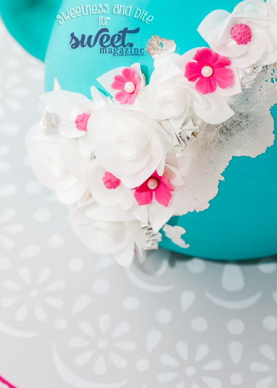 Simple Stencilled Cake Board Tutorial ~ Sweetness and Bite