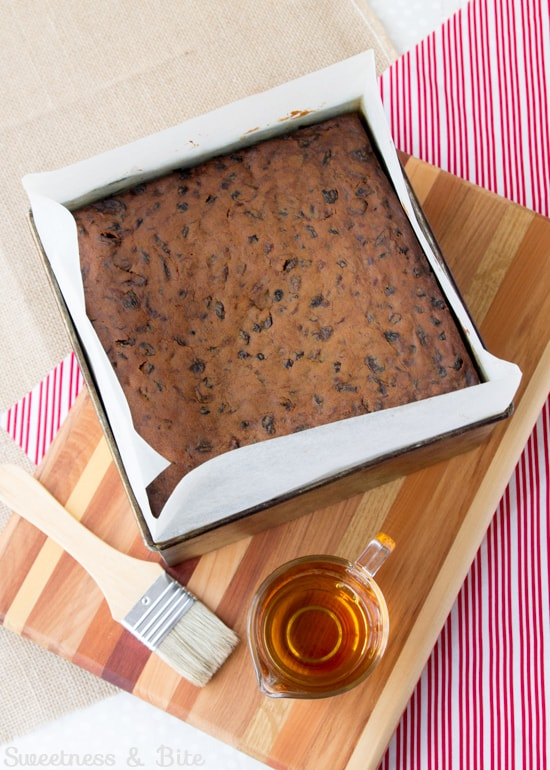 Gluten Free Fruit Cake ~ Feeding Cake with Brandy ~ Sweetness and Bite