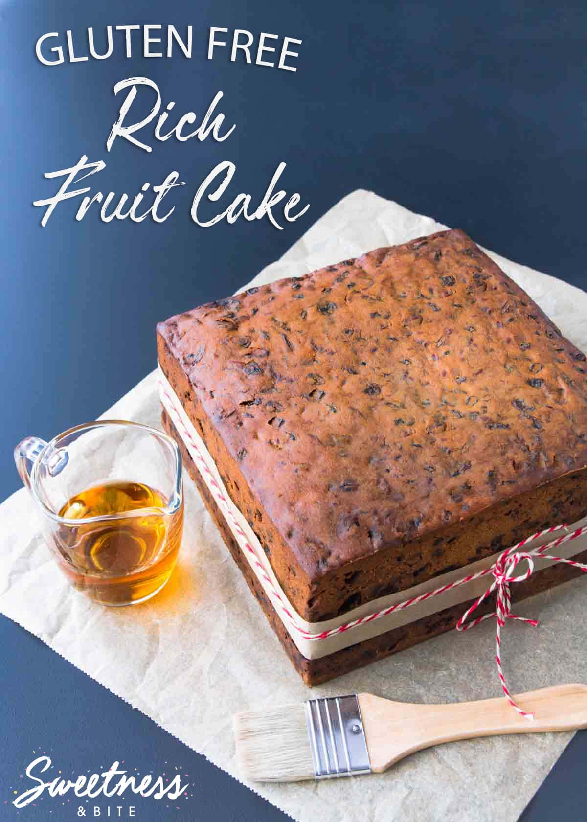 Gluten Free Fruit Cake ~ The Perfect Christmas Cake or Wedding Cake ~ Sweetness and Bite