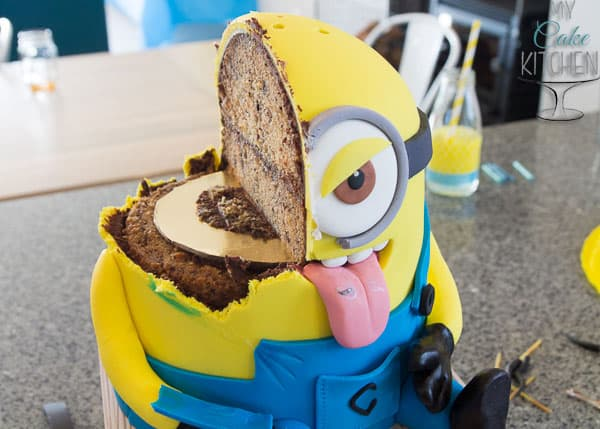 Inside the Meanie-Minion Cake ~ By My Cake Kitchen