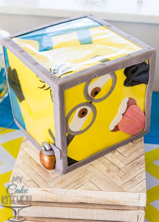 Minion-In-A-Box Cake by My Cake Kitchen