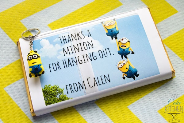Minion Party Favours - Thanks a Minion for hanging out!