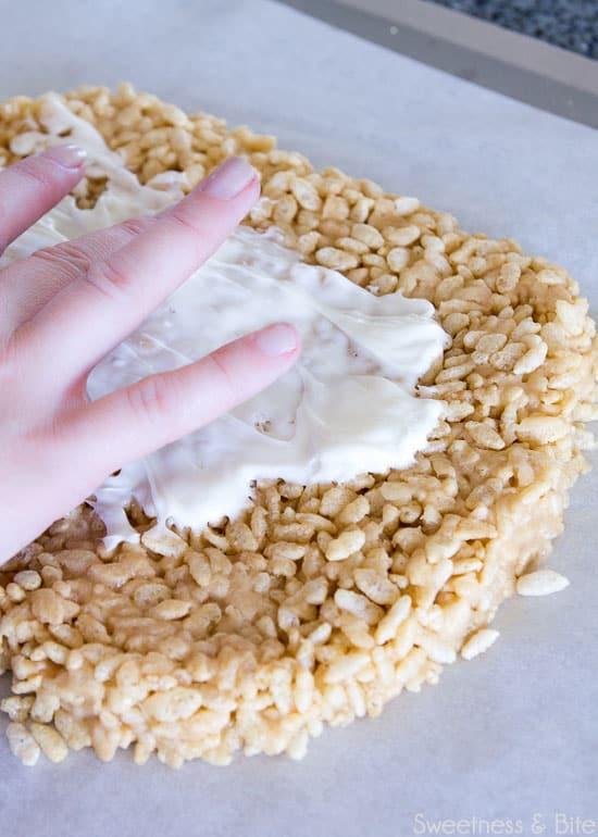 Sweet Sushi, making rice bubble bar