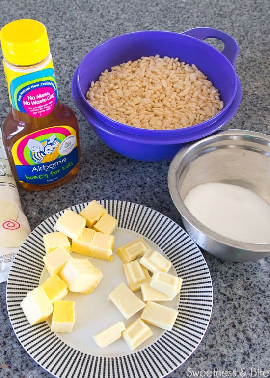 Sweet sushi rice krispie ingredients