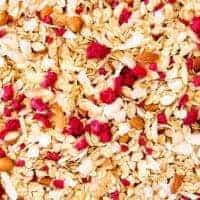 Almond, Coconut and Raspberry Muesli