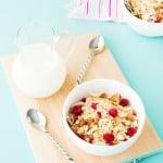 Almond, Coconut and Raspberry Meusli (aka Granola) ~ Sweetness & Bite