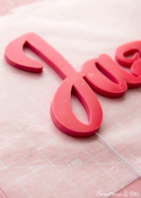 Gum Paste Name Cake Topper Tutorial