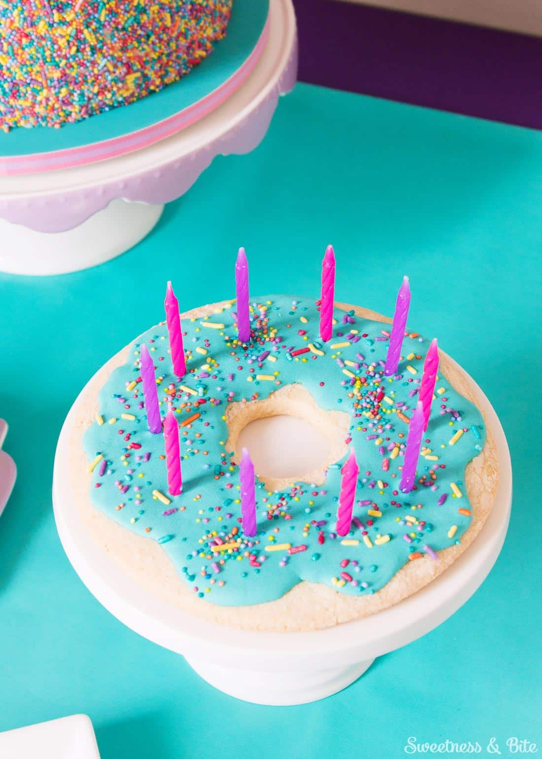 Sprinkle Cake Donut Cookie Candle Holder