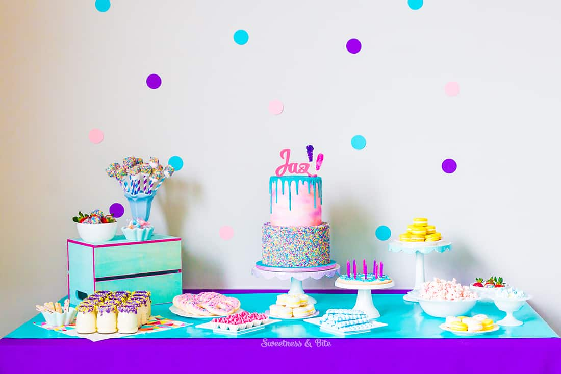 Sprinkle Cake Tumblr and Sprinkles Party Table