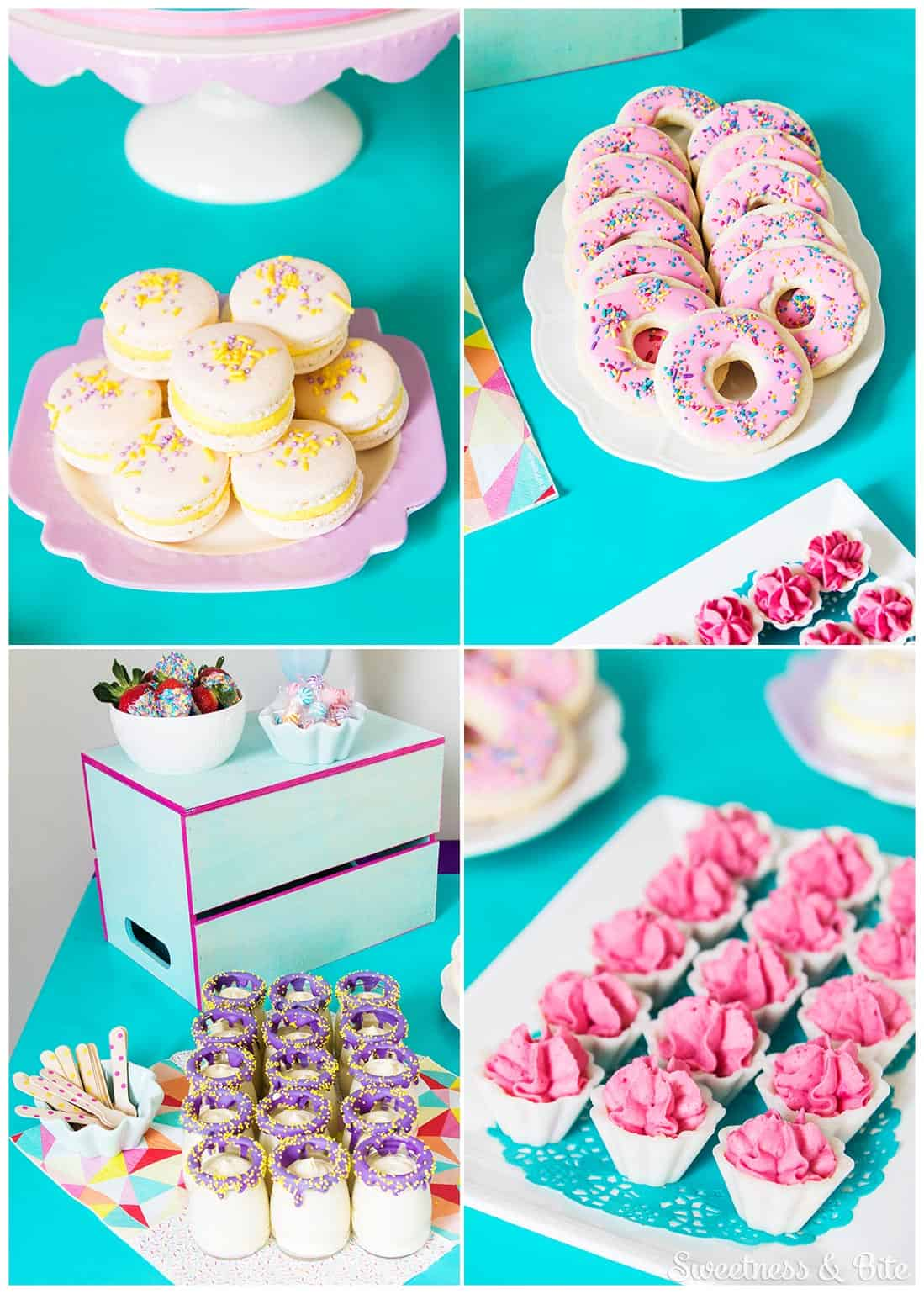 Sprinkle covered party food