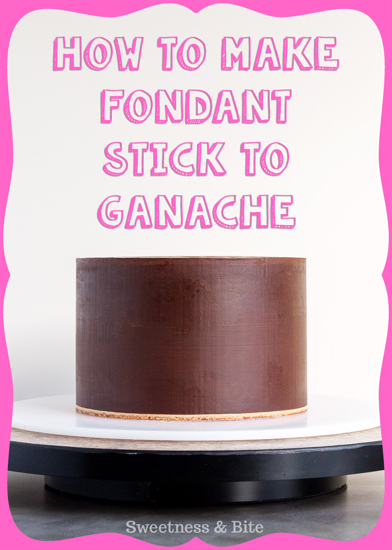 How to Make Fondant Stick To Ganache