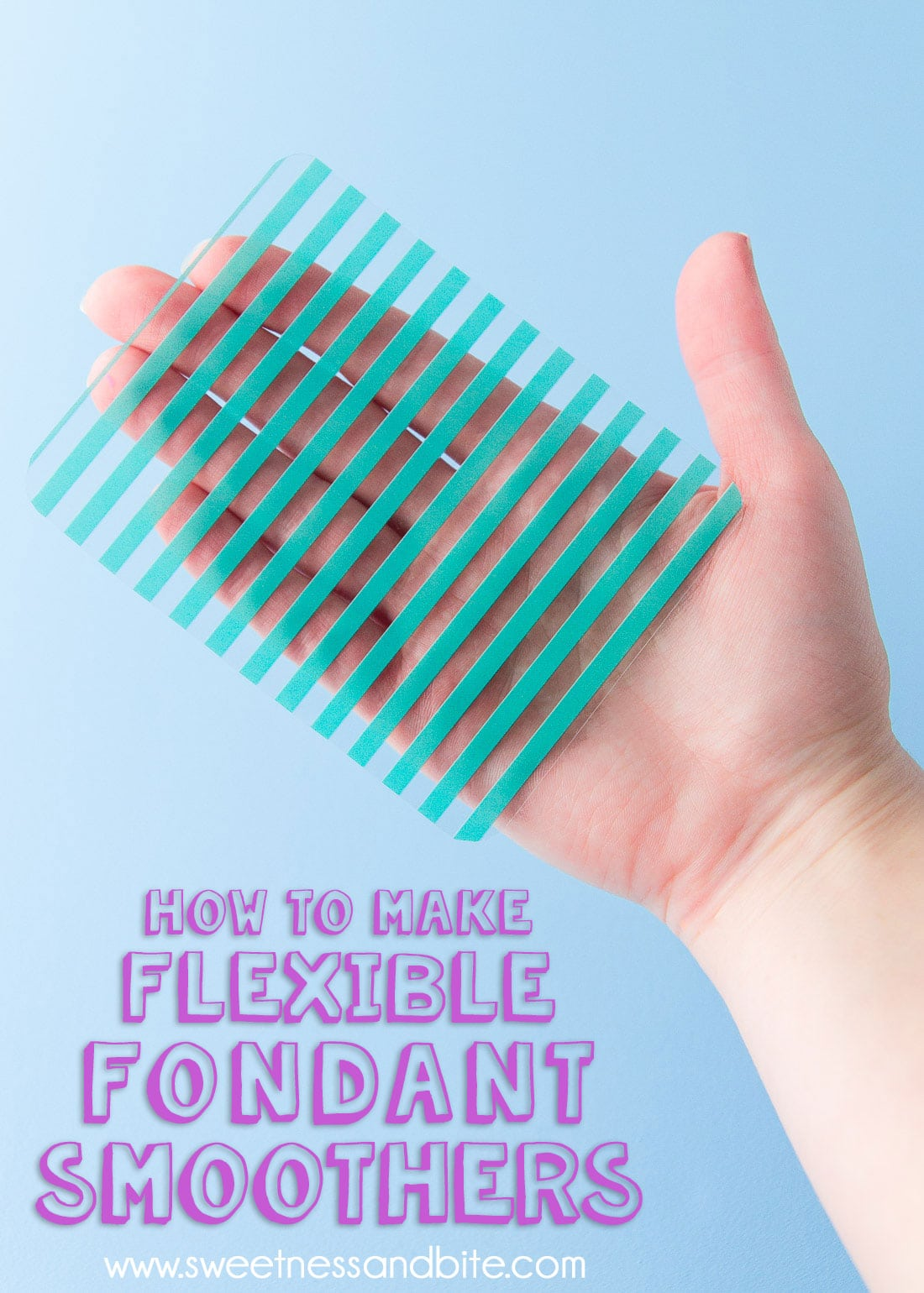 How To Make Flexible Fondant Smoothers - Step by step tutorial with free printable template ~ Sweetness & Bite