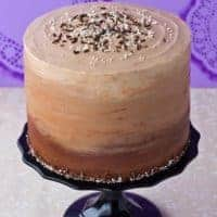 Chocolate & Vanilla Honey Cheesecake Layer Cake