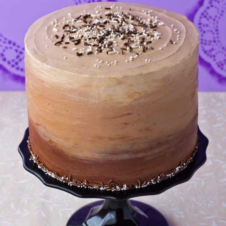 Chocolate & Vanilla Honey Cheesecake Layer Cake