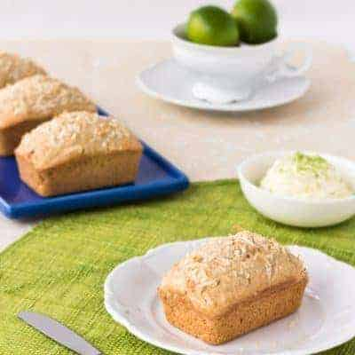 Coconut Bread with Lime Mascarpone {Gluten Free}
