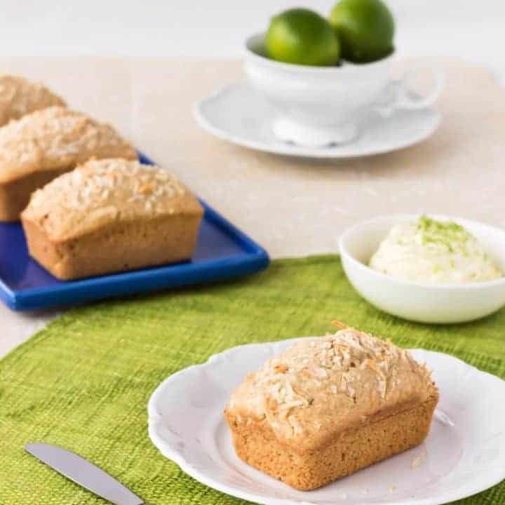 Coconut Bread with Lime Mascarpone ~ Sweetness & Bite