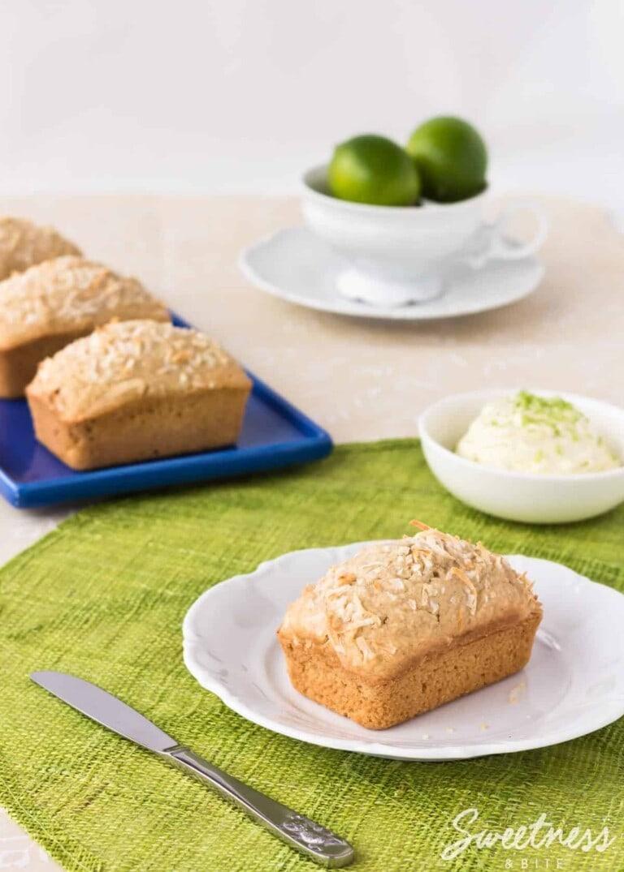 Coconut Bread with Lime Mascarpone {Gluten Free}