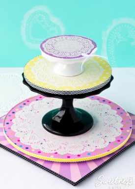 Cute Doily Cake Boards {Tutorial}