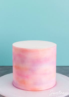 Simple Watercolour Cake Tutorial