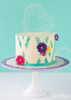 Sponged Abstract Buttercream Stripe Tutorial ~ Sweetness & Bite