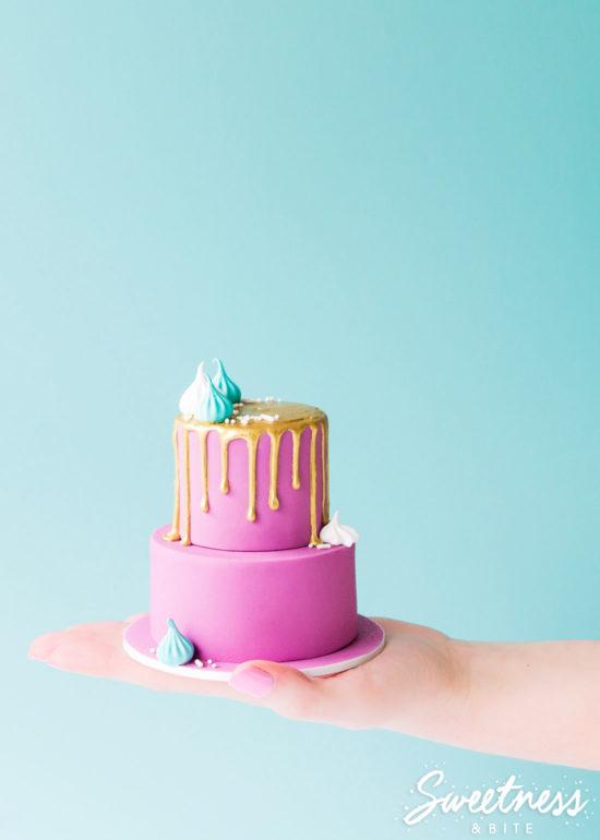 How to Make a Mini Drip Cake