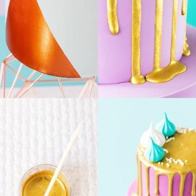 How to Make the Shiniest Edible Metallic Paint