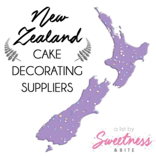 New Zealand Cake Decorating Suppliers A handy list of cake decorating suppliers around New Zealand, including online stores, custom cake topper suppliers and edible image printers ~ by Sweetness and Bite