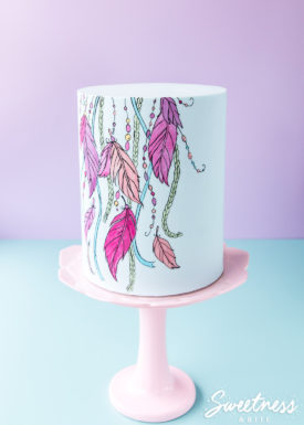 Hand-Painted Cake Tutorial ~ Boho Inspired Cake