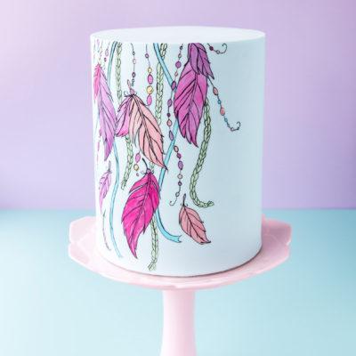 Hand-Painted Cake Tutorial ~ Boho Inspired Cake