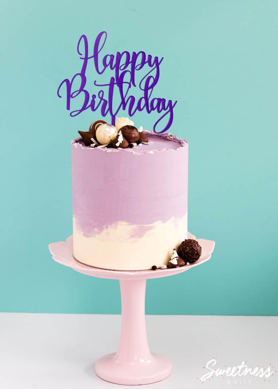 Rough Edge Ganache Drip Cake Tutorial!