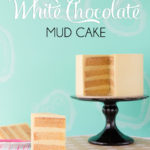 A moist, dense gluten free white chocolate mud cake. Perfect for cake decorating, it keeps well, can be covered in fondant and used for tiered cakes.
