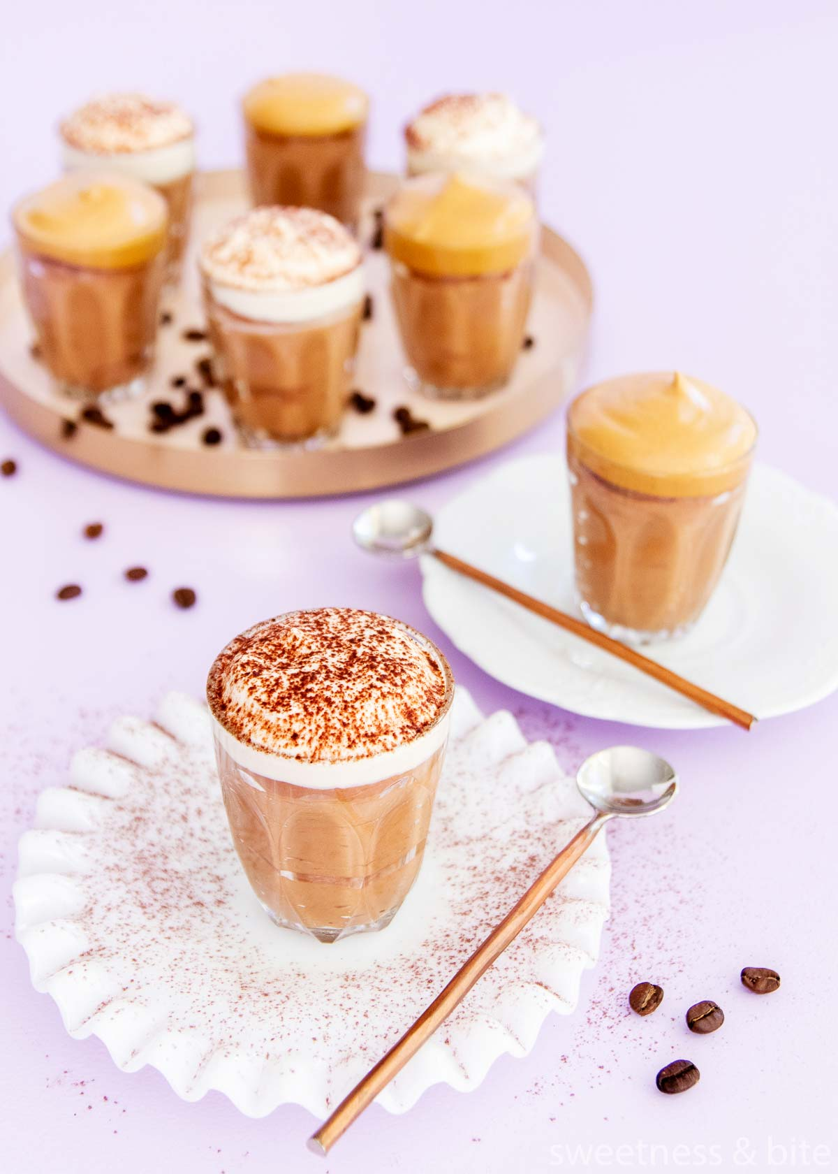 chocolate and coffee mousse