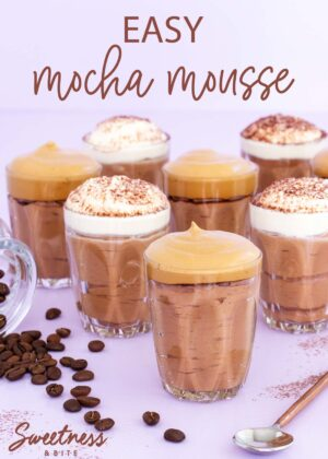 Easy mocha mousse with whipped coffee topping